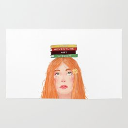 Book girl 02 Rug