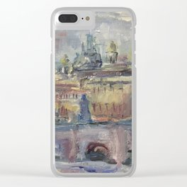Oil Painting On Canvas City Landscape Artwork Impressionism Cozy Home Decor Bedroom Decoration Clear iPhone Case