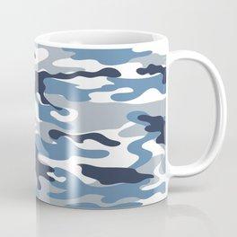 Blue and White Camo Coffee Mug
