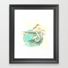 Mushroom Orb Framed Art Print