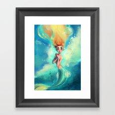 the pretty mermaid Framed Art Print