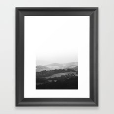 Hill Mist - Black and White Collection Framed Art Print