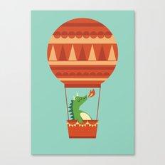 Dragon On Hot Air Balloon Canvas Print