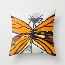 Toughest Butterfly Throw Pillow