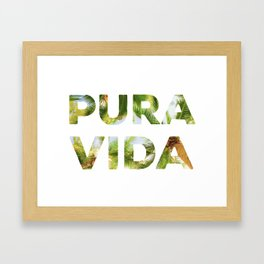 Pura Vida Costa Rica Palm Trees Framed Art Print
