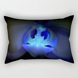 Orchidea in blue Rectangular Pillow