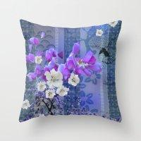 hummingbird Throw Pillows featuring Hummingbird by Sabah
