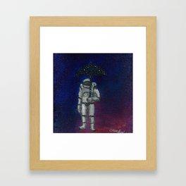 Astronaut Weather Man Framed Art Print