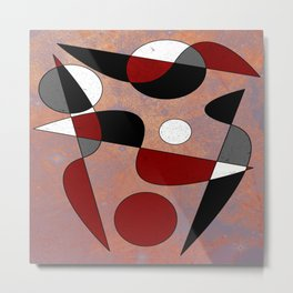 Abstract #154 Lost in the Confusion Metal Print