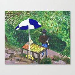Caribbean Roadside Vendor Canvas Print