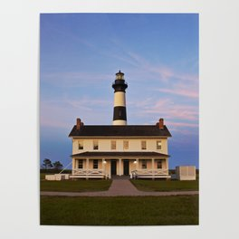 Bodie Island Lighthouse at Sunset Poster