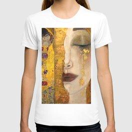 Gustav Klimt portrait The Kiss & The Golden Tears (Freya's Tears) No. 2 T-shirt