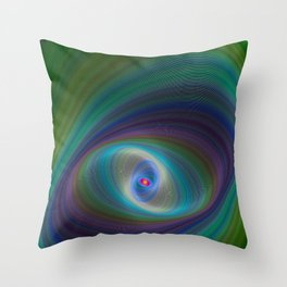 Elliptical Eye Throw Pillow