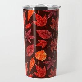 Autumn leaves watercolor Travel Mug