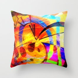 The small colorful abstract. Throw Pillow