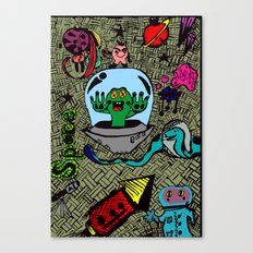 Aliens in Space Canvas Print