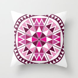 circle with triangles Throw Pillow