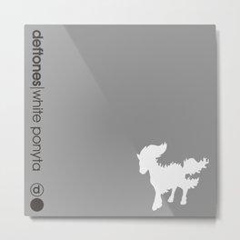 White Ponyta Metal Print