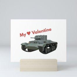 My Valentine British WW2 Tank Mini Art Print