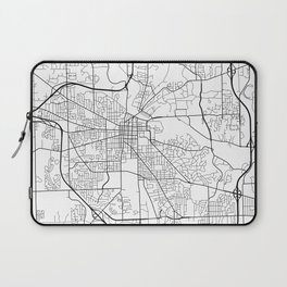 Ann Arbor Map, USA - Black and White Laptop Sleeve