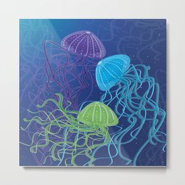Ethereal Jellies Metal Print