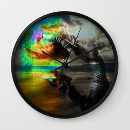 Waves in the infinite Wall Clock