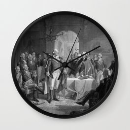 Washington Meeting His Generals Wall Clock