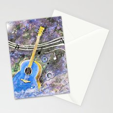 Space Guitar Acoustic Stationery Cards