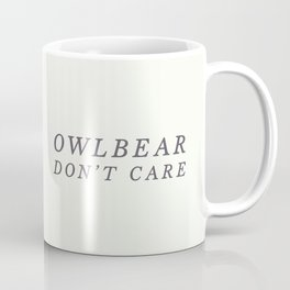 Owlbear (Typography) Coffee Mug