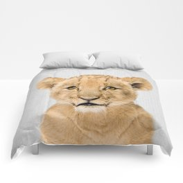 Baby Lion - Colorful Comforters