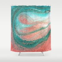 madonna Shower Curtains featuring Marine Madonna by Catherine Holcombe