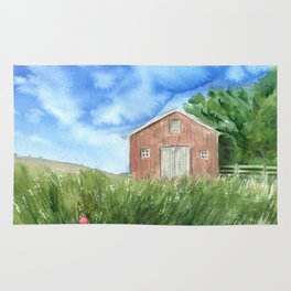 Barn to where my home is Rug