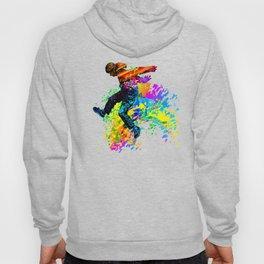 Hip hop dancer, teenager jumping, dancing Hoody