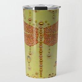 Dragonfly in Yellow Travel Mug