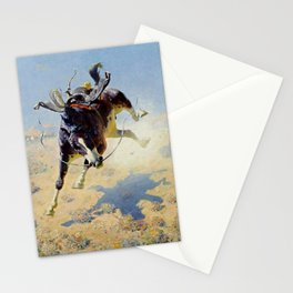 "William Leigh Western Art ""A Fighting Cyclone"" Stationery Cards"