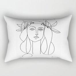 Head 1946 Abstract Fantasy Print Rectangular Pillow