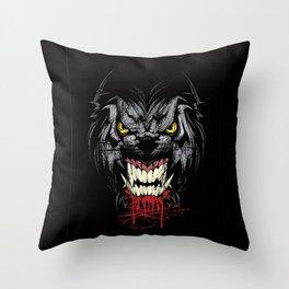 Grumpy Dog Throw Pillow
