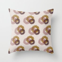 Flower Power surface pattern Throw Pillow