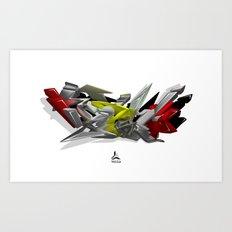3D GRAFFITI - HIP-HOP Art Print