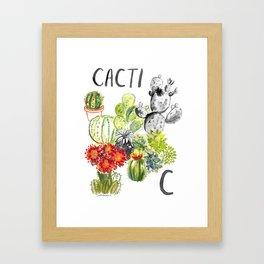 C is for Cacti Framed Art Print