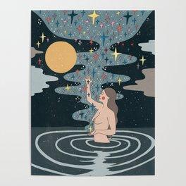 Full Moon blessings Poster