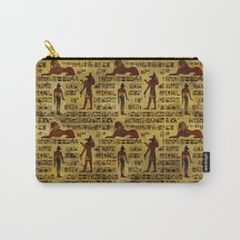 Egyptian Decorative hieroglyphics Pattern Carry-All Pouch