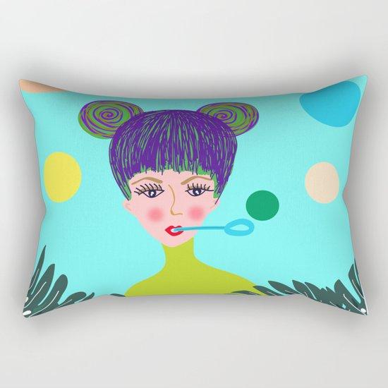 Playful girl Rectangular Pillow