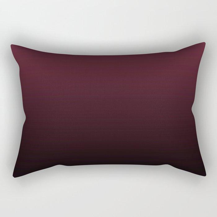 Burgundy Wine Ombre Gradient Rectangular Pillow
