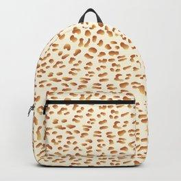 Golden Metallic Leopard Print Backpack