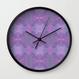Lavender Pattern Wall Clock