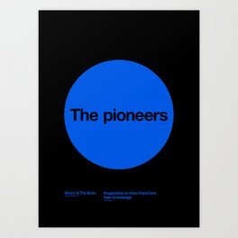 The pioneers Art Print