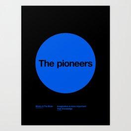 The pioneers Art Print