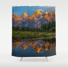 Grand Tetons Lake Reflections - Wyoming Shower Curtain