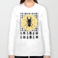 bugs Long Sleeve T-shirts featuring Bugs Pattern by DIVIDUS DESIGN STUDIO